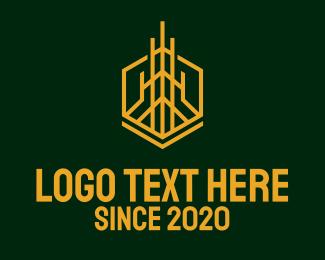 Condominium - Gold Tower Condominium logo design