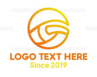 Therapeutic - Yellow Tech G logo design
