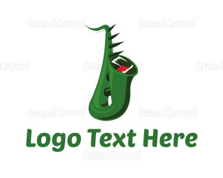 Jazz - Monster Saxophone logo design