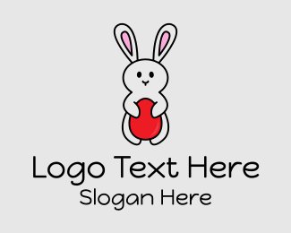 Party Game - Easter Bunny Egg logo design