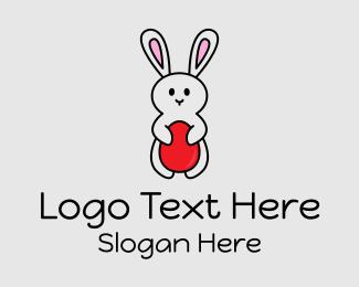 Mascot - Easter Bunny Egg logo design