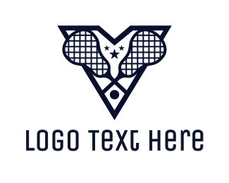 Crosse - Blue V Lacrosse logo design
