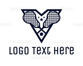 Crosse - Blue V Lacrosse logo design