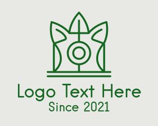 Polaroid - Green Polaroid Leaf  logo design