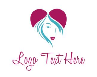 Sexy - Heart Girl logo design
