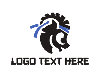 Fight - Karate Goat logo design