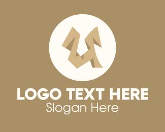 Letter U - Brown Letter U logo design