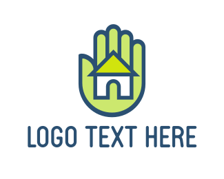 Contractor - Hand & House logo design