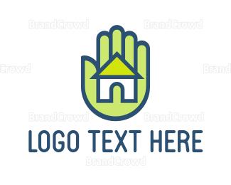 Hand - Hand & House logo design