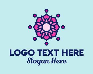 Yoga Training - Pink Lotus Spa logo design