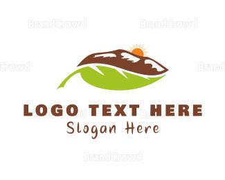 Cross Country - Mountain Leaf logo design