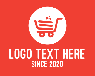 Mart - Modern Orange Shopping Cart logo design