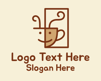 Tea Cup - Happy Coffee Cup  logo design