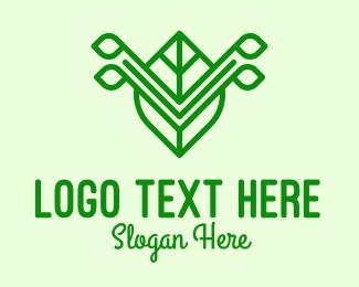 Natural Healing - Green Leaf Letter V logo design