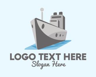 Port - Cargo Ship  logo design