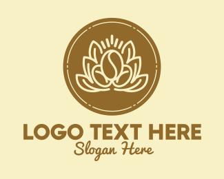 Arabica - Garden Leaf Coffee Bean logo design
