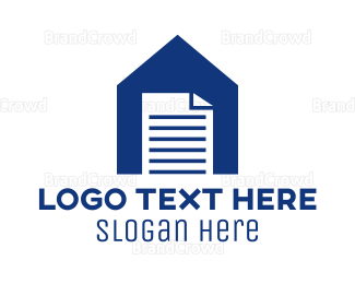 Contract - house document logo design