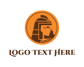 Egyptian - Cleopatra Circle logo design