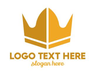 Queen - Modern Blade Crown logo design