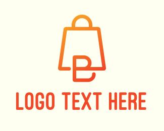 Convenience Store - Bag Shopping Letter B logo design
