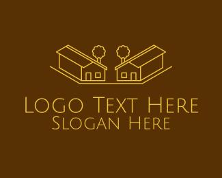 Architect - Golden Home Architect logo design