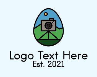 Photo - Photo Camera Egg  logo design