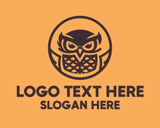 Bird Of Prey - Flying Owl Mascot logo design