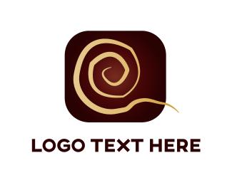 Curly - Golden Swirl logo design