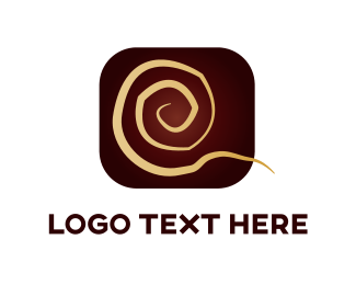 Chocolate - Golden Swirl logo design