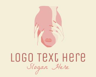 Aromatherapy - Woman Face Vase logo design