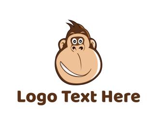 Chimp - Monkey Smile logo design