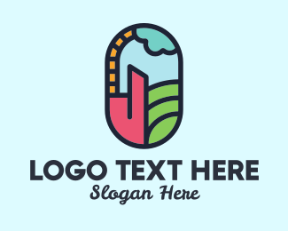 Room - Stained Glass Window logo design
