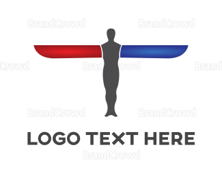 Flyer - Man Plane logo design