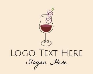 Purple Wine - Letter S Grape Wine  logo design