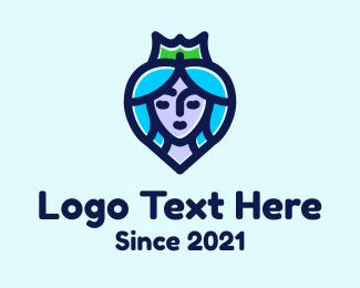 Queen - Beautiful Heart Queen logo design
