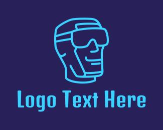 Virtual Reality - Virtual Reality Man logo design