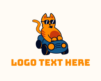 Driving - Cool Cat Driver logo design