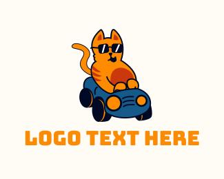 Fun - Cool Cat Driver logo design