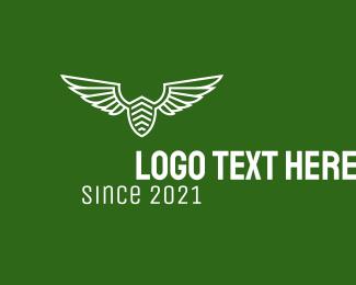 Squadron - White Airforce Badge  logo design
