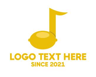 Yellow Lemon - Citrus Music logo design