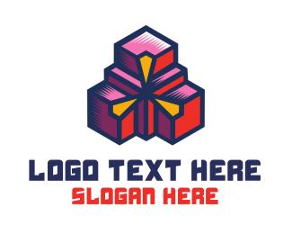 Digital - Digital Geometric Boxes logo design