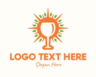 Holy Mass - Sunny Eucharist Goblet logo design