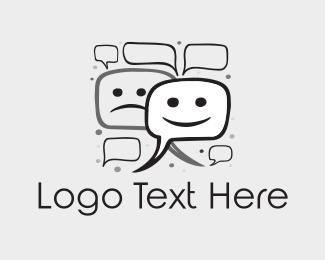 Theater - Chat Bubbles logo design