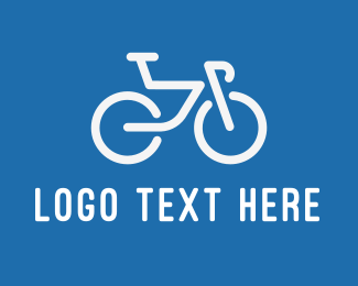 Cycling Team - White Bicycle logo design