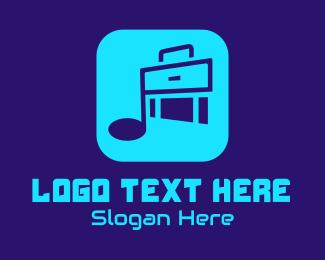 Music Stream - Music Suitcase App  logo design