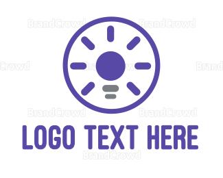 Bulb - Violet Light Bulb logo design