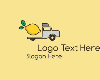 Lemon - Lemon Truck  logo design