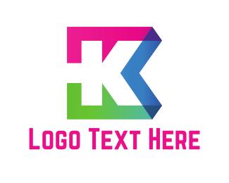Bold Letter K logo design