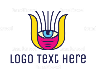 Burning Man - Female Cyclops logo design