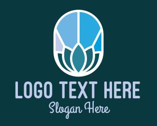 Interior Decorator - Blue Zen Wellness Emblem logo design